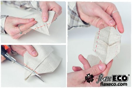 Мастер-класс по пошиву льняного мешочка.