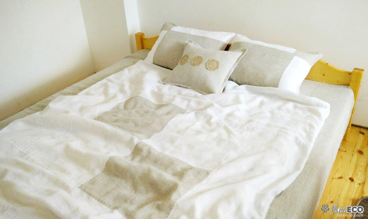Льняное постельное белье с вышивкой 70