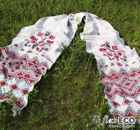 211f3e39dbb45e Рушник ручной работы «Райское дерево». Домотканый лен.